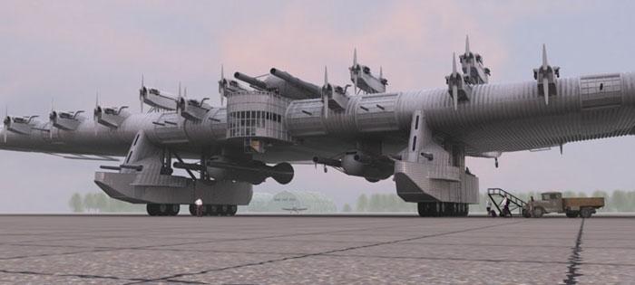 مخوف ترین هواپیمای جنگی جهان (قلعه مخوف) + ویدئو