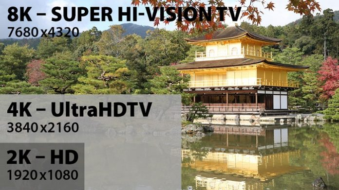 japan 8k tv broadcasting quality