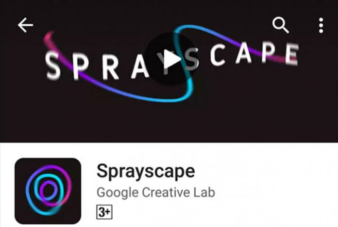 Google Sprayscape Camera App