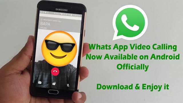 نسخه جدید WhatsApp ( تماس تصویری )