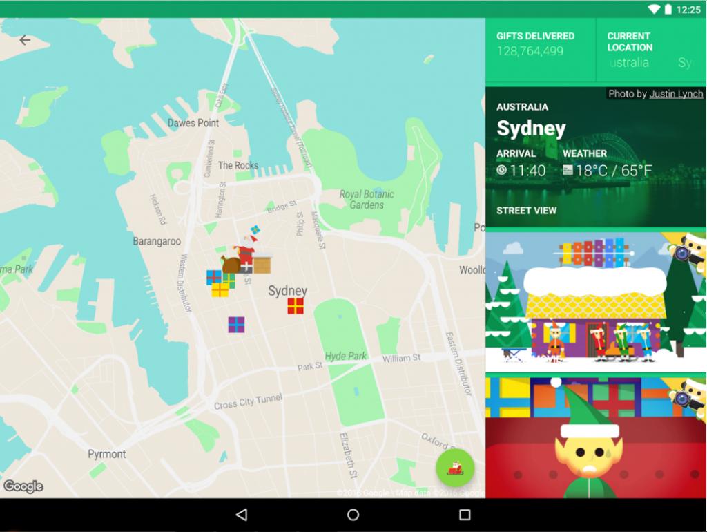 Google به مناسبت کریسمس Santa Tracker را ارائه داد