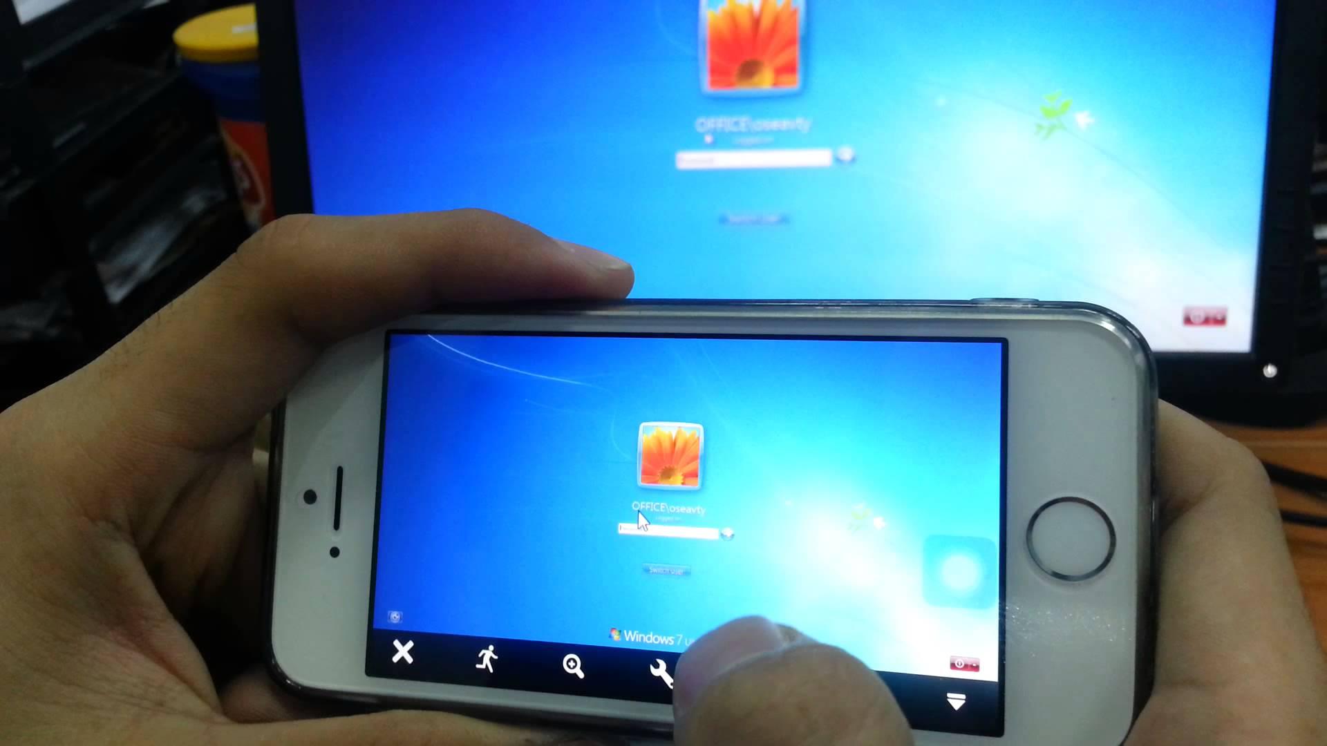 دسترسی به کامپیوتر با Iphone