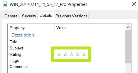 چگونه در ویندوز 10 به فایل ها و پوشه ها ستاره ای امتیاز بدهیم؟
