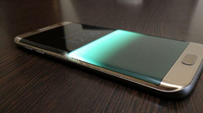 صفحه نمایش گلکسی اس 7 اج شکننده ترین صفحه نمایش دنیا