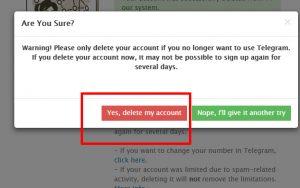 حذف اکانت دائمی تلگرام