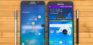 ارائه بروزرسانی جدید برای گوشی های Galaxy Note 4 و Note 5