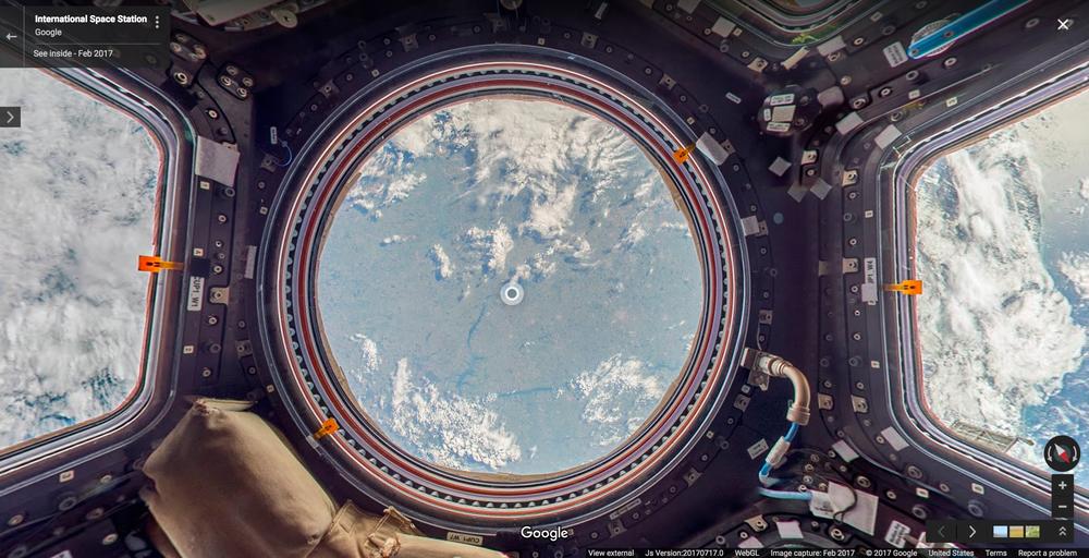 ایستگاه فضایی بین المللی را در Google street view  بیابید