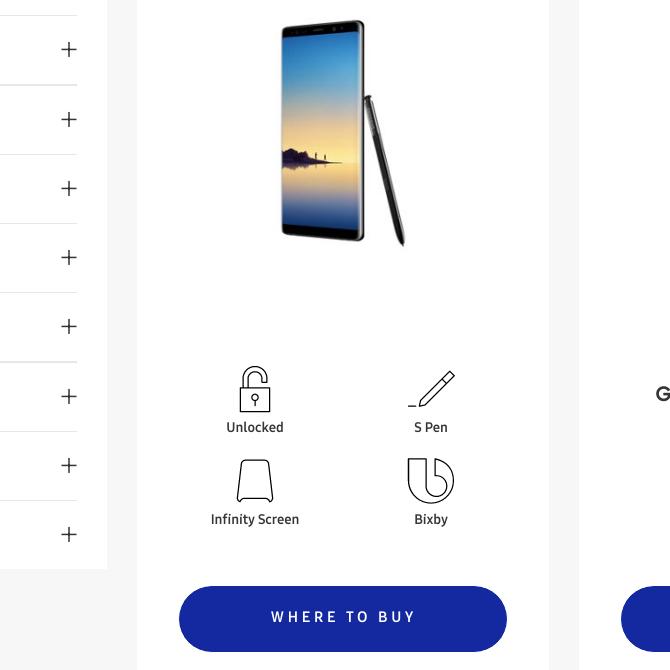 گوشی Galaxy Note 8 مختصرا در وبسایت رسمی سامسونگ نمایش داده شد