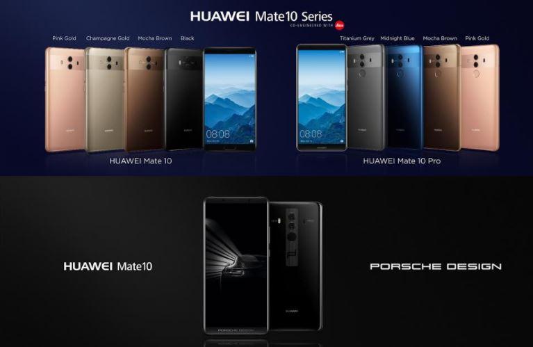 بررسی تفاوت گوشی های جدید هواوی HUAWEI Mate 10 با یکدیگر !