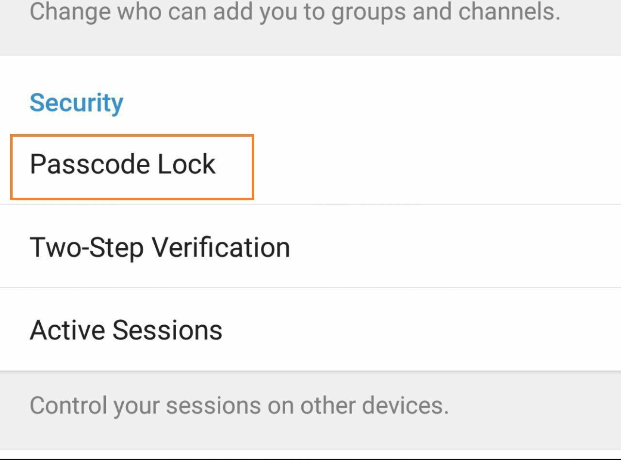 چگونه برای تلگرام رمز بگذاریم