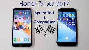 مقایسه برند آنر ۷x با برند سامسونگ A7 2017