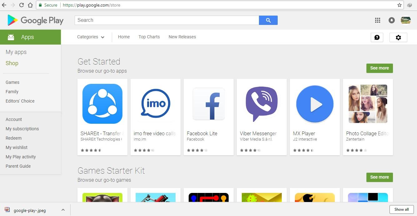 استفاده از گوگل پلی با کامپیوتر