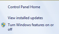 گزینه یView Installed Updates