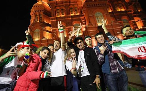 تماشاگران زن ایران مراکش جام جهانی 2018