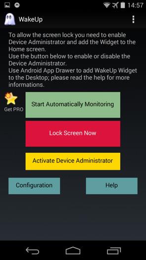 روشن کردن صفحه نمایش گوشی