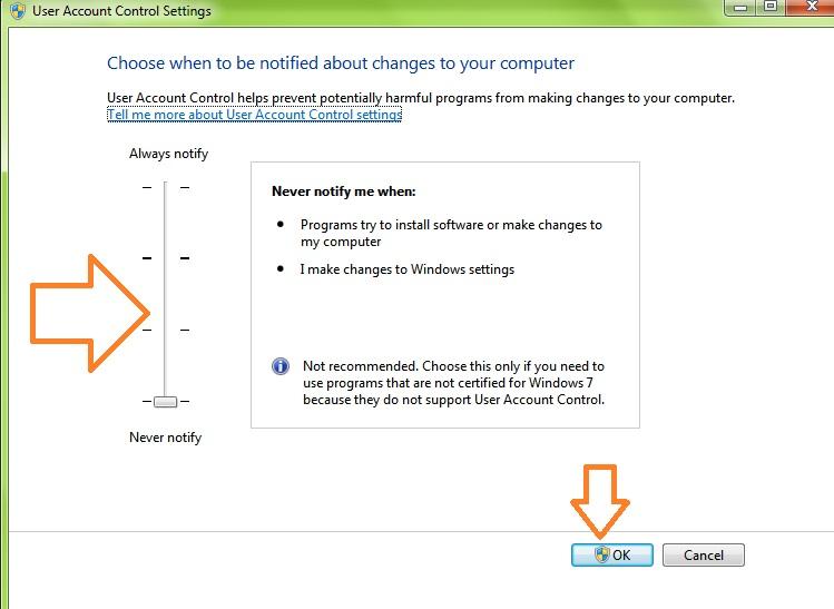 حذف پیام پیغام User Account Control در ویندوز