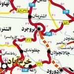 دانلود نقشه کامل راه و شهر های ایران