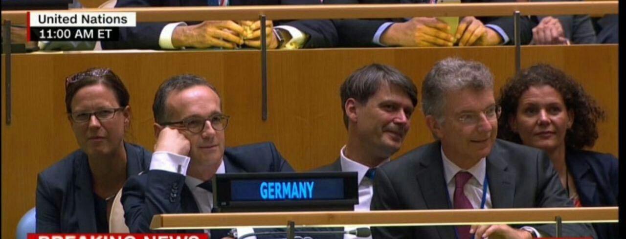 خنده هیات دیپلماتیک آلمان