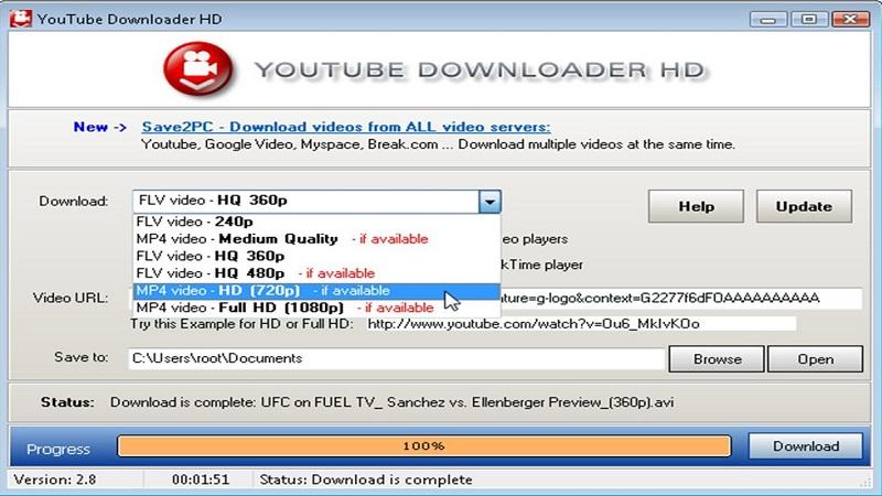 نرم افزارYouTube Downloader HD