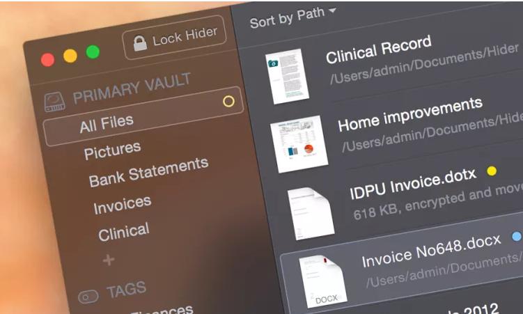 مخفی کردن فایل ها