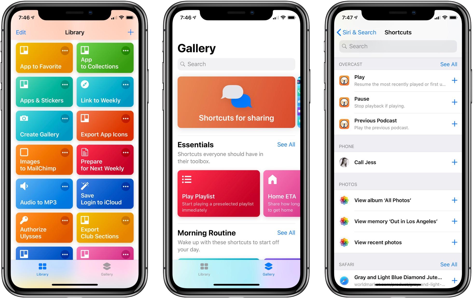 میانبرهای iOS 12