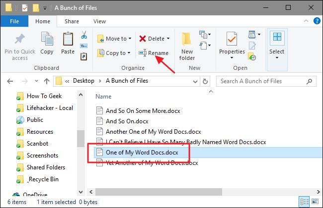 تغییر نام چندین فایل