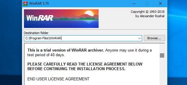 نرم افزار WinRAR