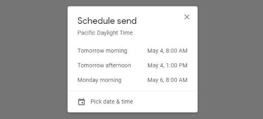 زمان بندی ارسال ایمیل