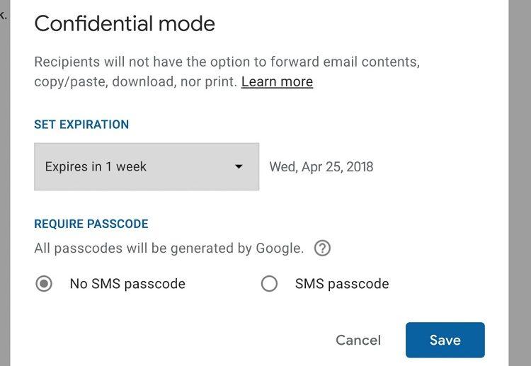 ویژگی های حالت محرمانه Gmail که به زودی توزیع خواهد شد
