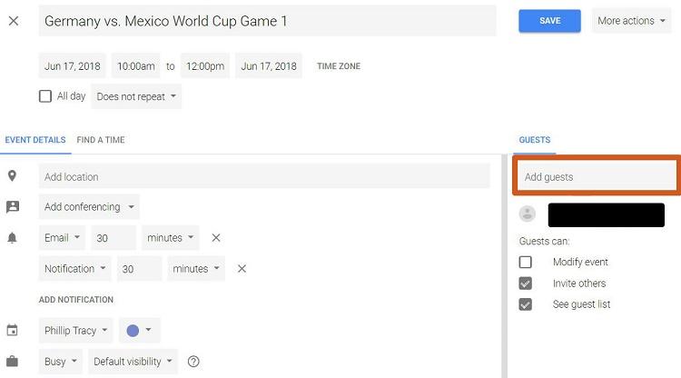 نحوه مدیریت مجوزها در تقویم گوگل