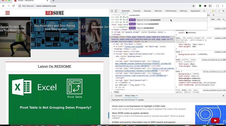 اسکرین شات تمام صفحه از سایت ها در گوگل کروم و مایکروسافت اج