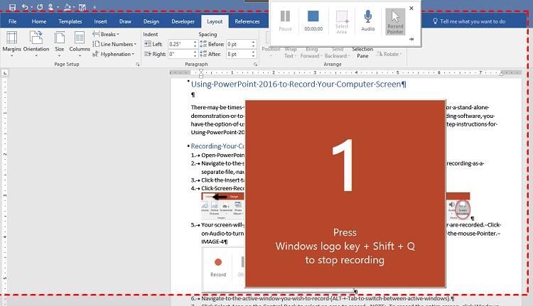 ضبط صفحه ویندوز با استفاده از پاورپوینت