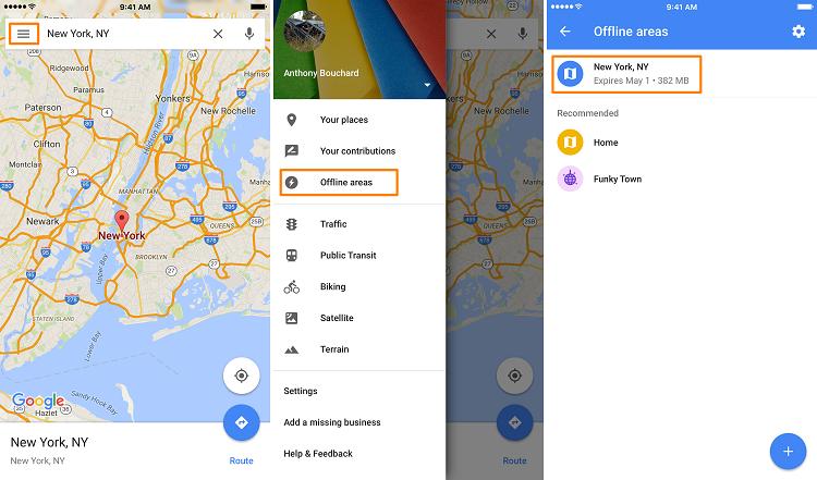 نحوه ذخیره نقشه ها به صورت آفلاین در گوگل مپ