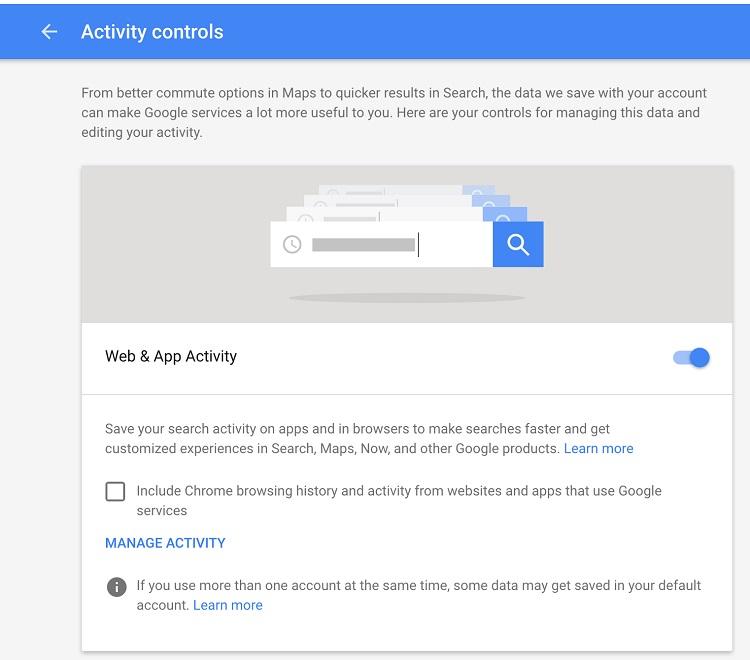 گوگل تمام جستجوها را ذخیره می کند
