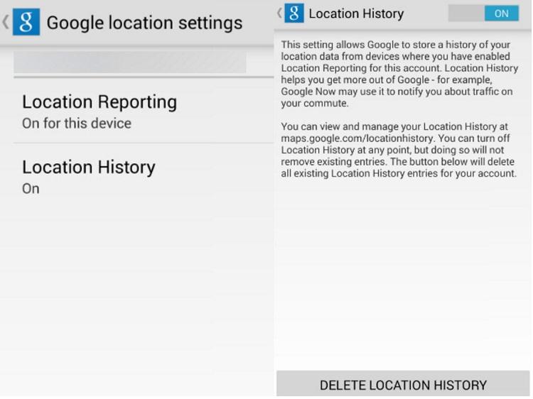 گوگل مکان شما را ردیابی و ذخیره می کند