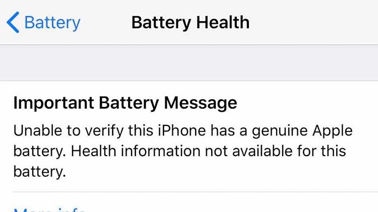اپل در مورد باتری های غیر اصل در آیفون هشدار میدهد