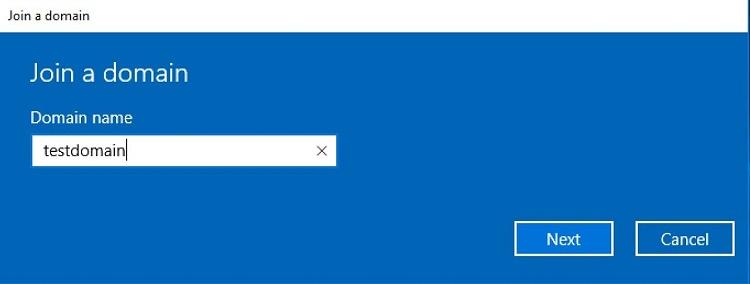 در ویندوز 10 پرو، دامنه ثبت کنید