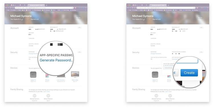 یک رمز عبور خاص برای برنامه iCloud ایجاد کنید