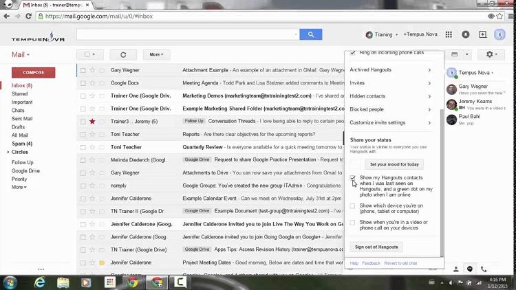 پنجره گپ Google Hangouts را مخفی کنید (یا انتقال دهید)