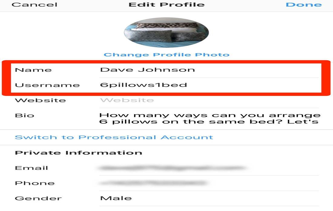 چگونه در اینستاگرام نام کاربری و نمایشی خود را تغییر بدهیم؟