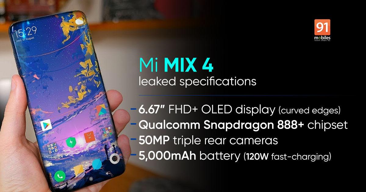 شیائومی Mi MIX 4 با مشخصات بزرگ در راه است